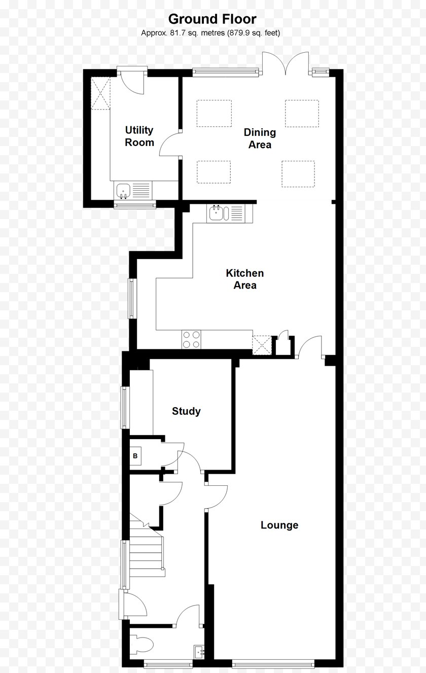 Schematic - Floor Plan Line Angle - Black And White Free PNG