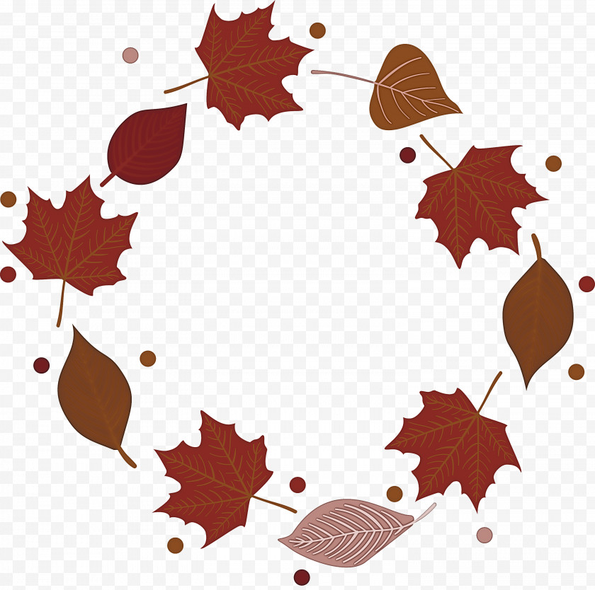 Autumn Frame Autumn Leaves Frame Leaves Frame Free PNG