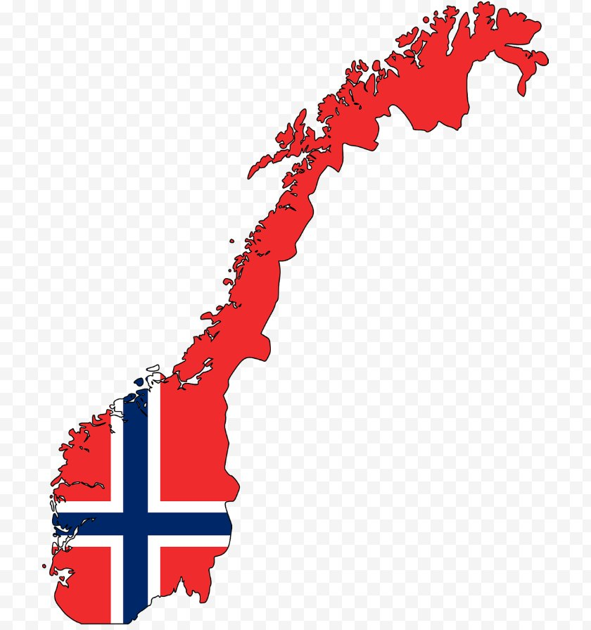 Norway - Blank Map Vector Free PNG