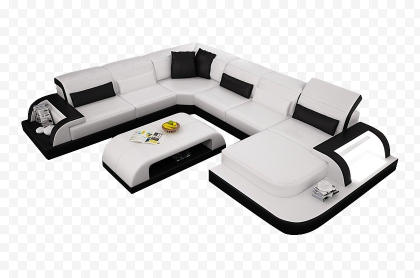 Couch - Furniture Living Room Chair Leather - Studio - Sofa Top View Free PNG