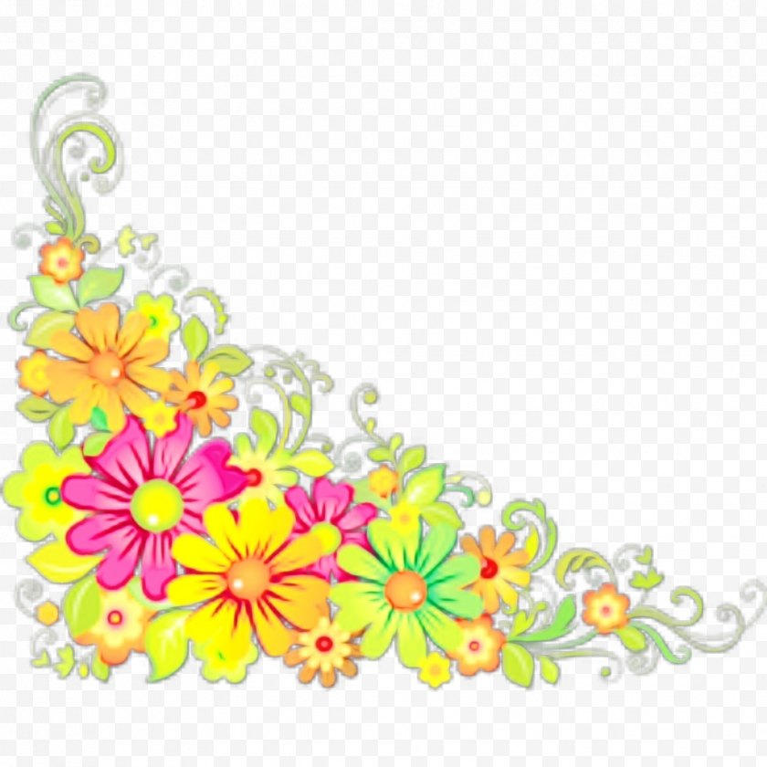 Watercolor - Floral Design - Yellow - Wildflower Plant Free PNG
