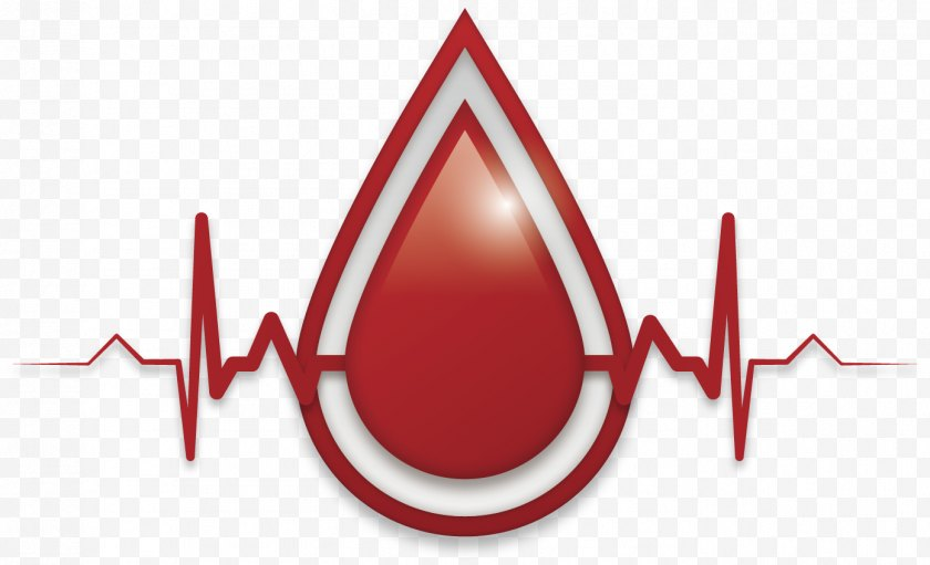 Blood Donation - Bank - Red - Vector Hand-painted Drops Of Heartbeat Free PNG