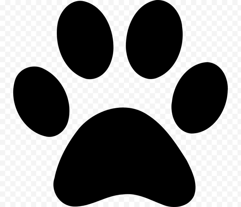 Dog - Paw Printing Clip Art Free PNG