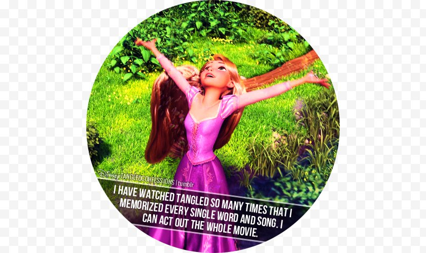 Rapunzel - Happiness - Tree - Tangled Confessions Free PNG