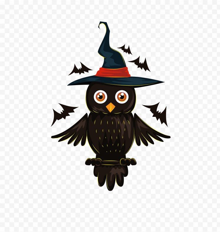 Beak - Owl Halloween Jack-o'-lantern Illustration - Trick Or Treating Free PNG