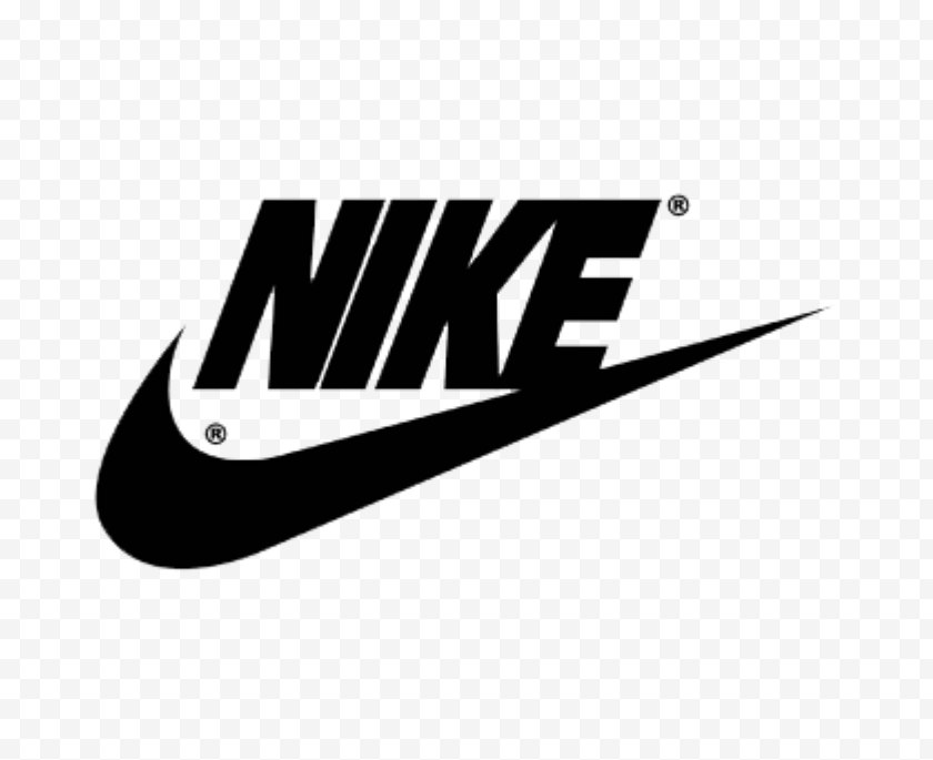 Nike Flyknit - Logo Air Force One Swoosh Shoe - Trademark Free PNG