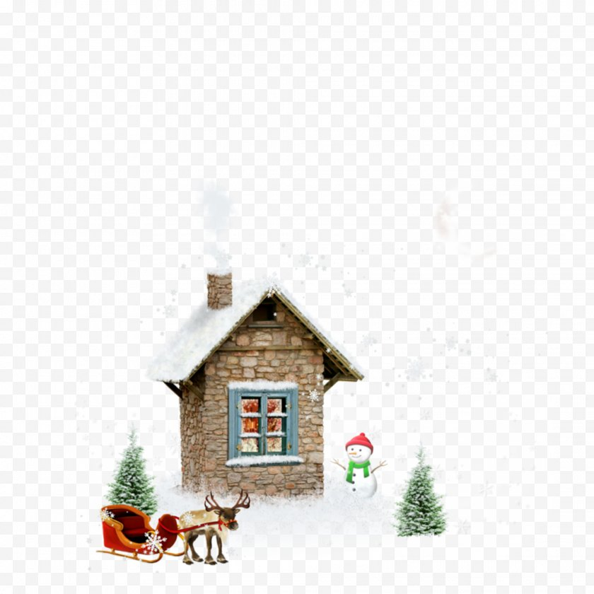Hut - Clip Art - Cottage - Cute Cartoon White Hand Painted Snow House Free PNG