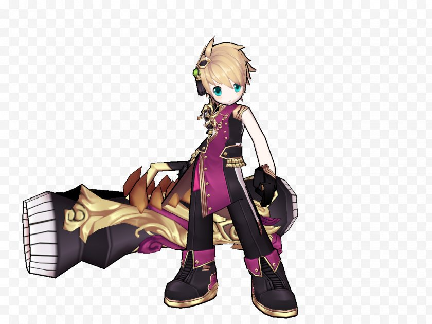 Silhouette - Elsword Cartoon Fiction Figurine Time - Watercolor - Chuang Free PNG