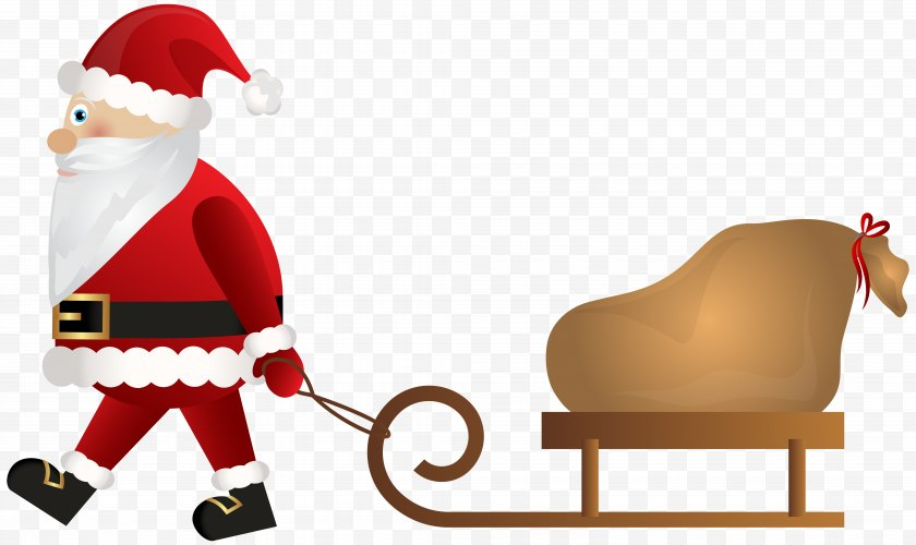 Santa Claus - Ded Moroz Christmas New Year - Gift - Sleigh Free PNG