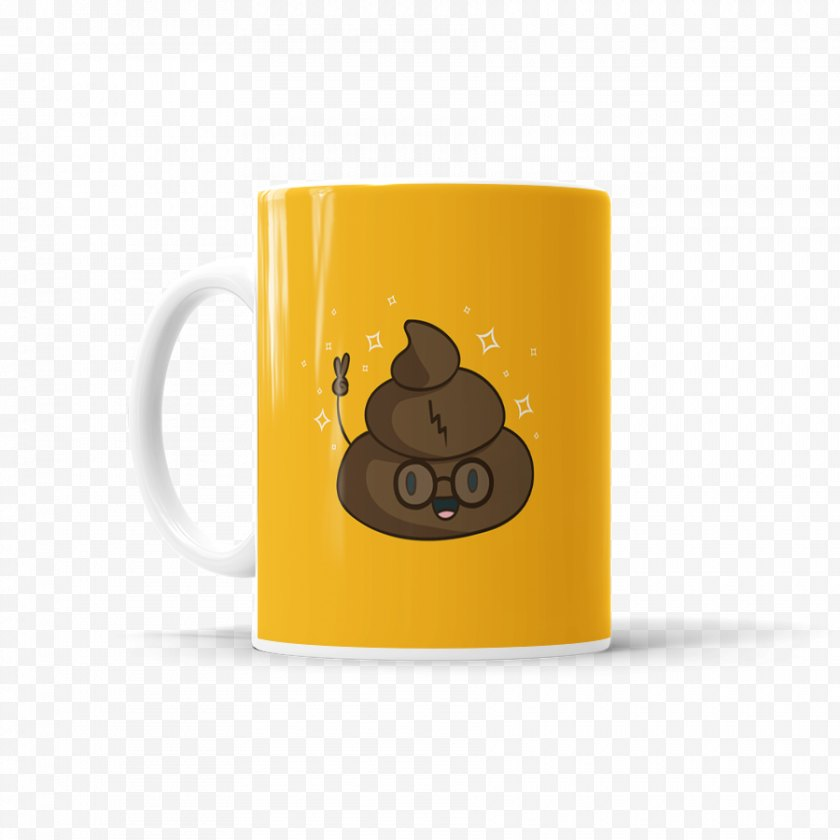 Yellow - Coffee Cup Product Mug Table-glass - Harry Potter Mugs And Cups Free PNG