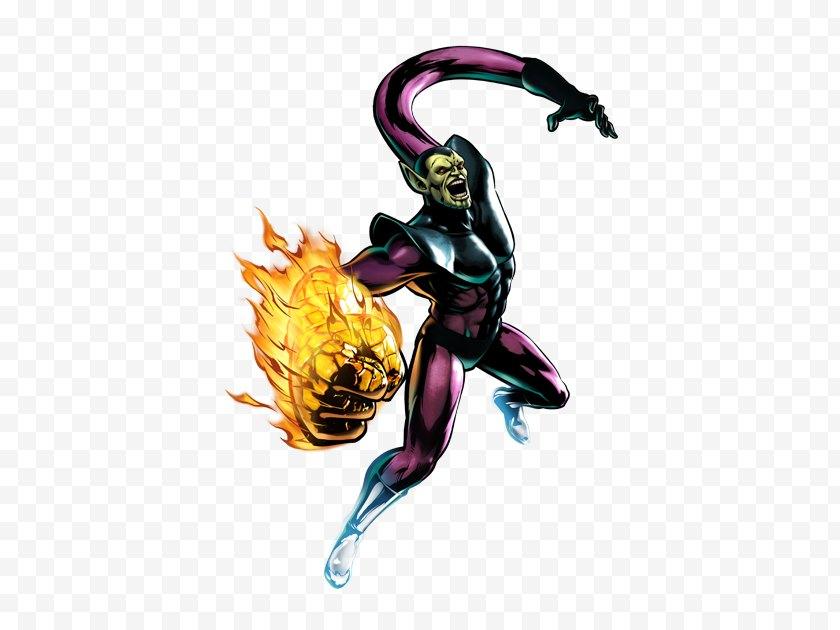 Marvel Universe - Captain Marvell - Ultimate Vs. Capcom 3 Super-Skrull Taskmaster Heroes 2016 - Mister Fantastic Free PNG