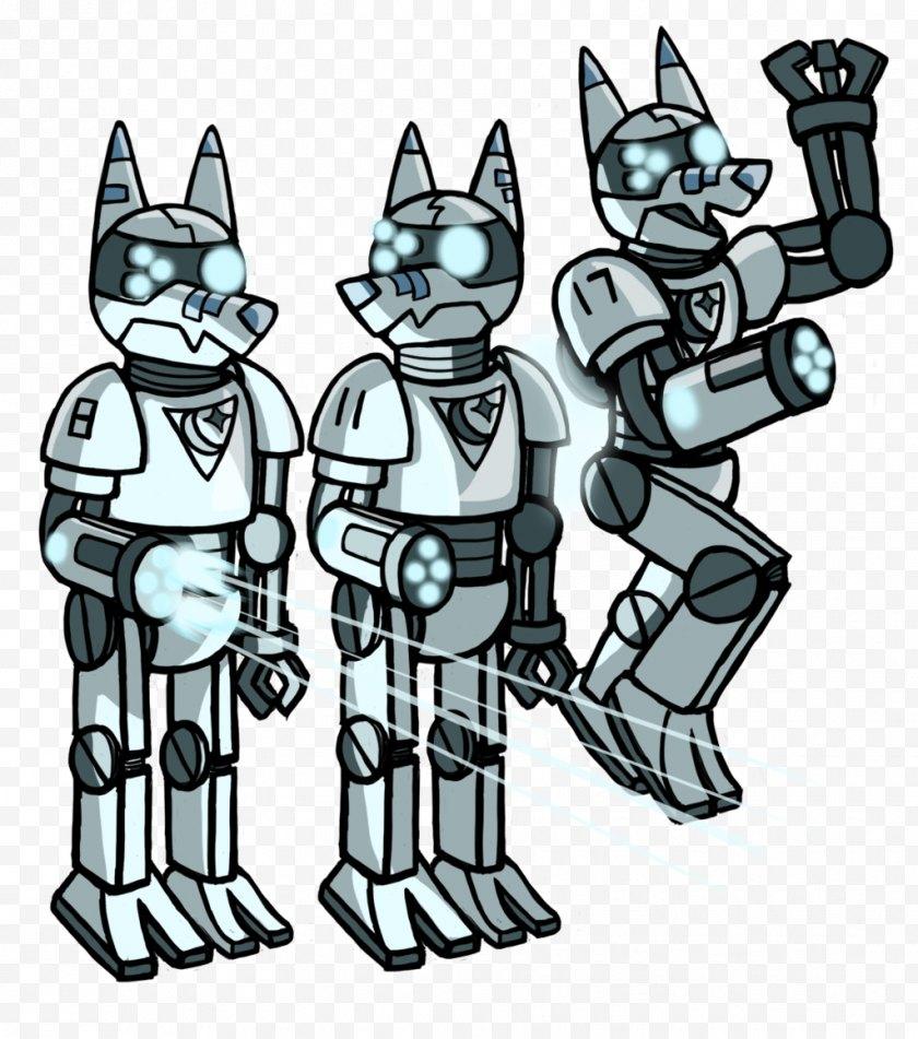 Machine - Robot Cartoon Mecha Character - Black And White Free PNG