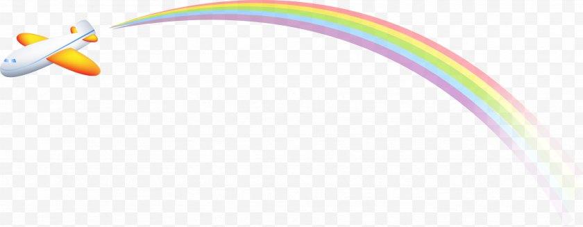 Airplane - Aircraft Graphic Design - Rainbow - Cartoon Free PNG