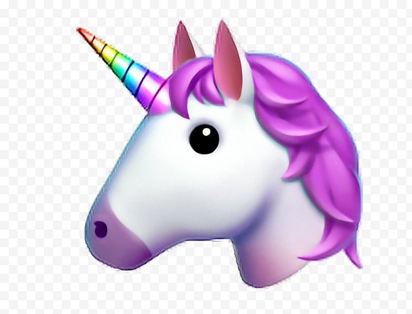 Violet - Unicorn Emoji Clip Art Sticker - Pink Free PNG
