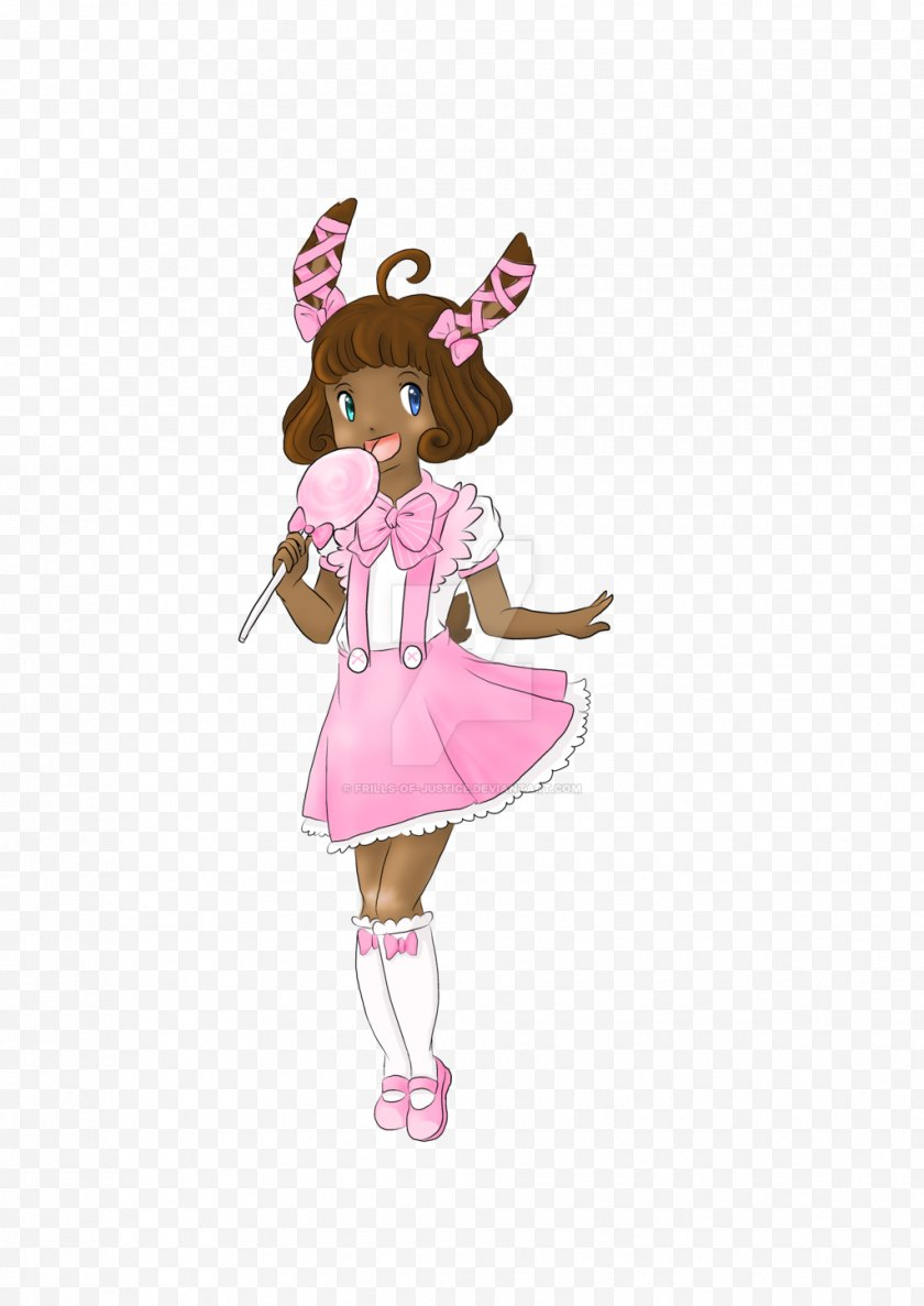 Silhouette - Mammal Costume Pink M Cartoon - Flower - Frills Free PNG