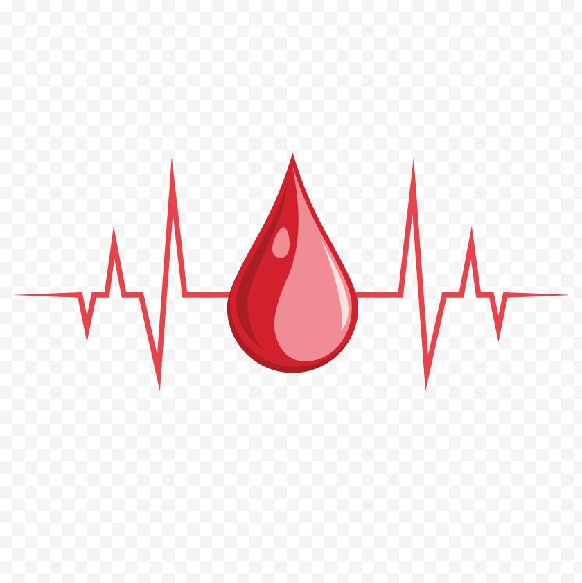 Heart - Blood Icon - Donation - Vector Heartbeat Free PNG