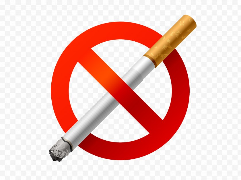 Cartoon - The Easy Way To Stop Smoking Cessation Health Passive - Silhouette - No Tips Free PNG