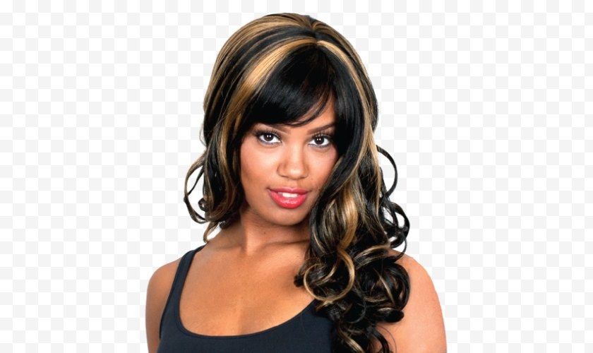 Bangs - Long Hair Layered Step Cutting Feathered - Wig - Multicolor Crochet Afro Hairstyles Free PNG