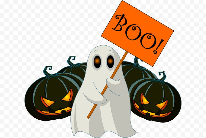Boo - Ghost Clip Art Free PNG