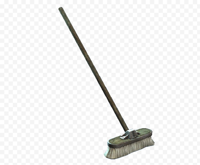 Cleaning - Fallout 4 Paul Revere House Broom - Household Supply - Torn Paper Free PNG