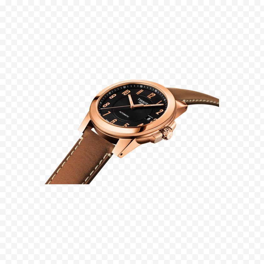 Clock - Tissot Automatic Watch Movement - Water Resistant Mark Free PNG