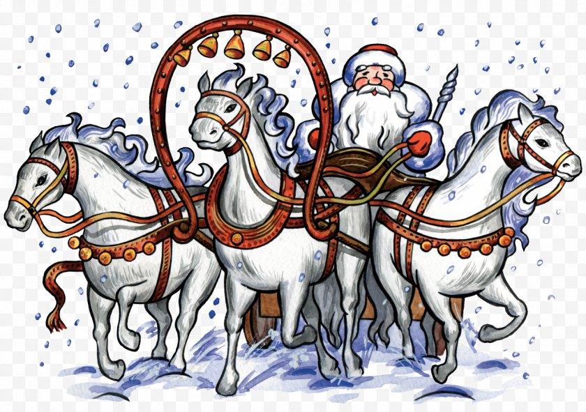 Mammal - Ded Moroz Paper Envelope Letter Grandfather - Cartoon - Santa Sleigh Free PNG