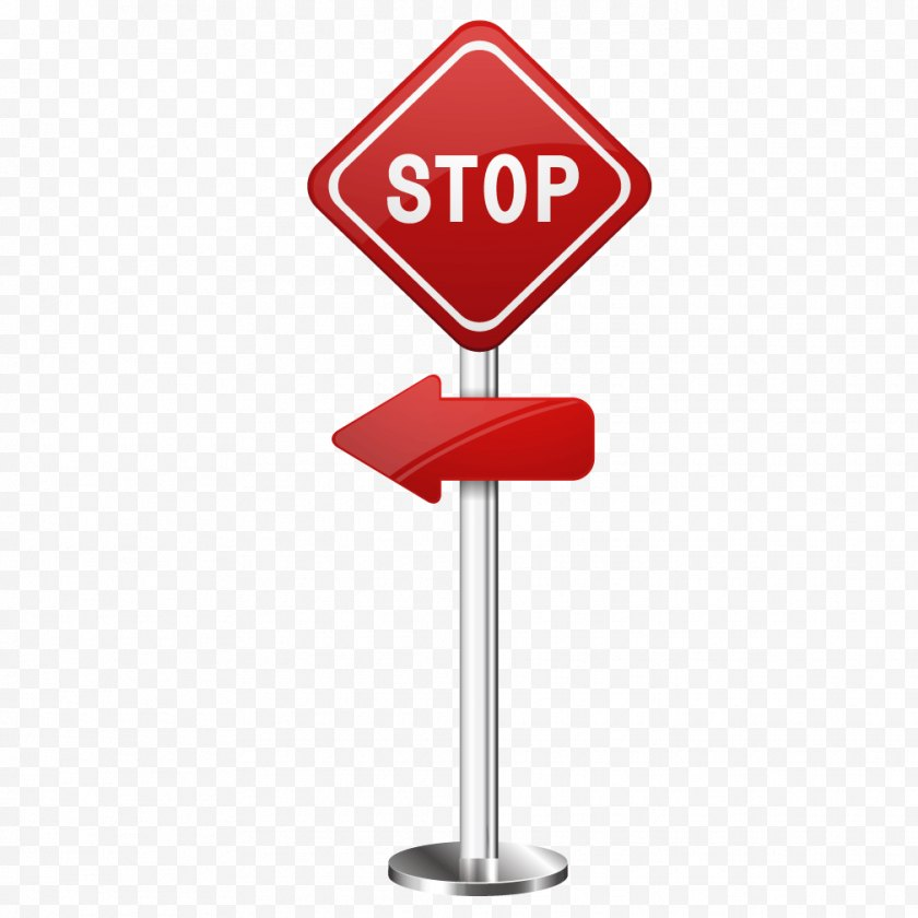Stop Sign - Red - Area - Diamond Free PNG