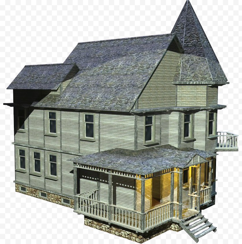 Hut - English Country House Rendering - 3d Computer Graphics Free PNG