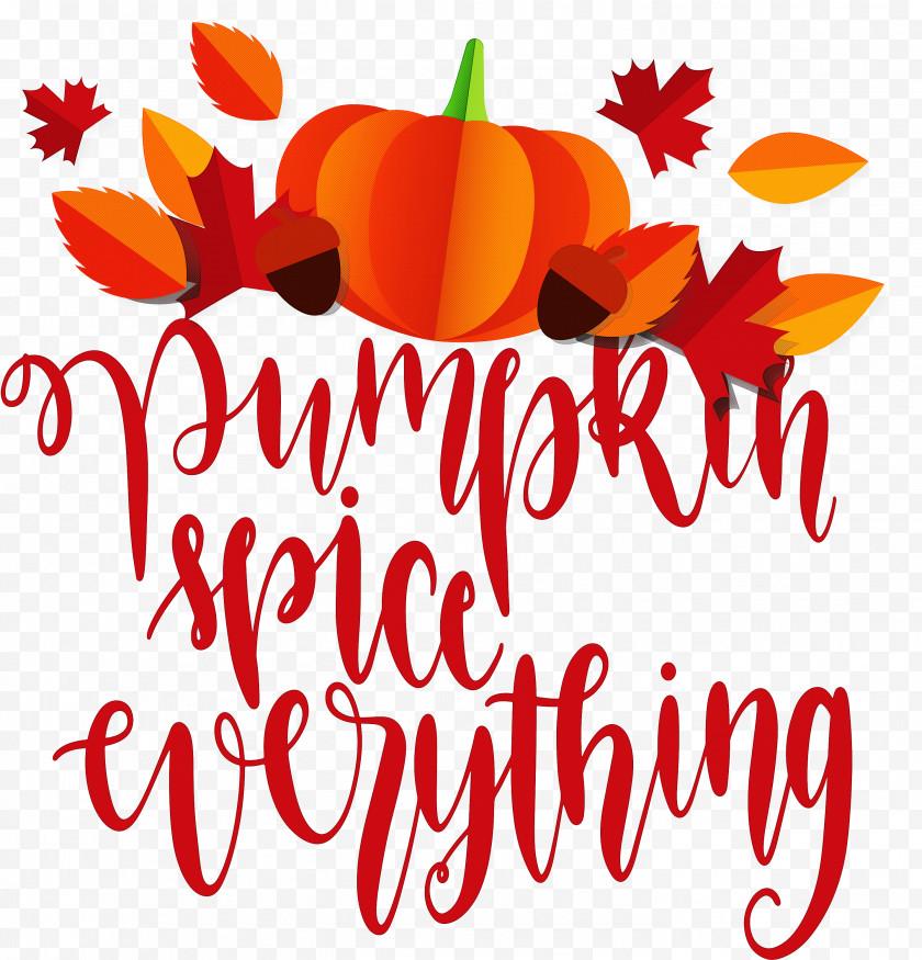 Pumpkin Spice Everything Pumpkin Thanksgiving Free PNG