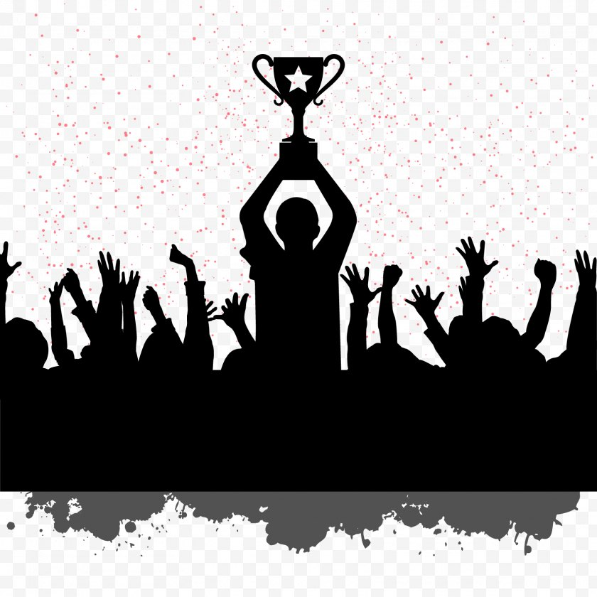 Team - Teamwork Motivation Quotation Building - Saying - People Silhouettes Celebrating World Champion Image Download Free PNG