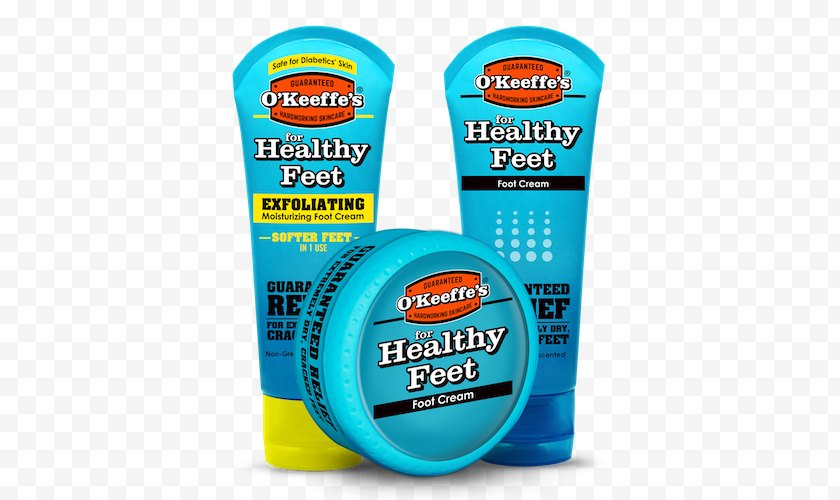 Household Cleaning Supply - Xeroderma - O'Keeffe's For Healthy Feet Foot Cream Lotion Working Hands Free PNG