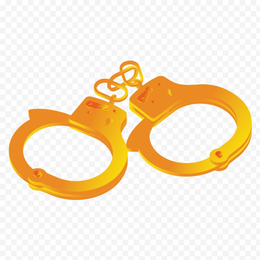 Yellow - Handcuffs Download Computer File - Designer - Creative Free PNG