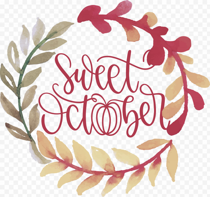Sweet October October Fall Free PNG