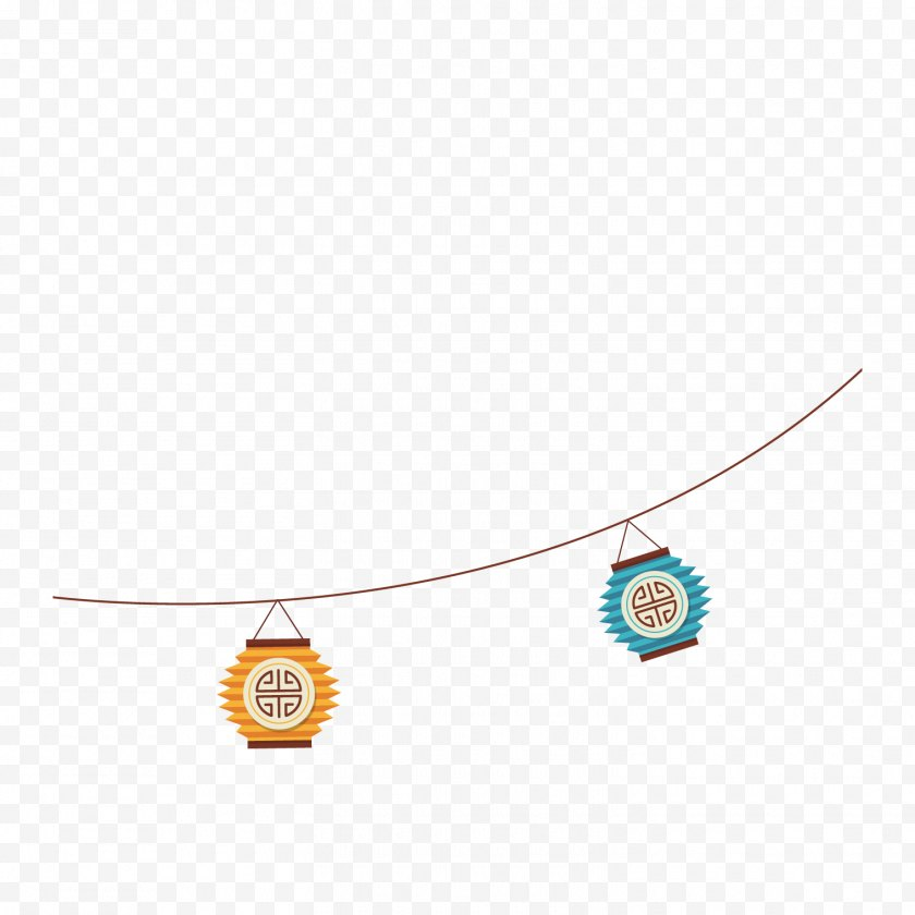 Lantern Festival - Mid-Autumn Traditional Chinese Holidays - Pattern - Floating Festive Material Free PNG