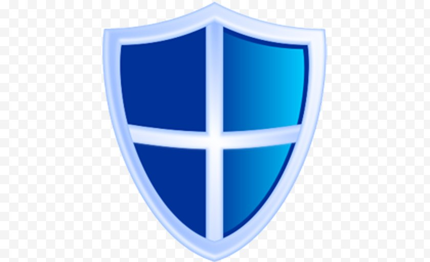 Electric Blue - Shield Clip Art - Technology Free PNG