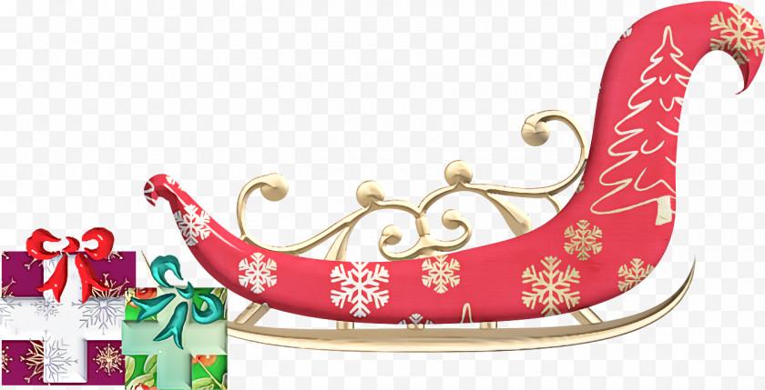 Santa Sled Santa Sleigh Christmas Free PNG