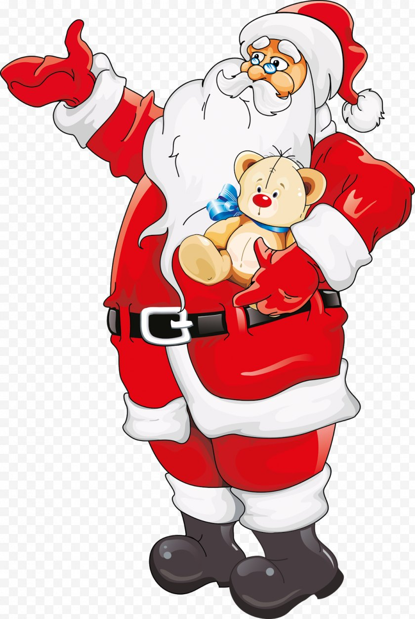 Santa Claus - Christmas Clip Art - Idea - Sleigh Free PNG