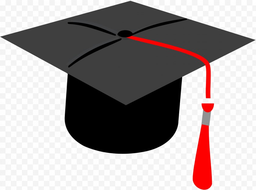 Red - Square Academic Cap Graduation Ceremony Clip Art - Graduate University Free PNG