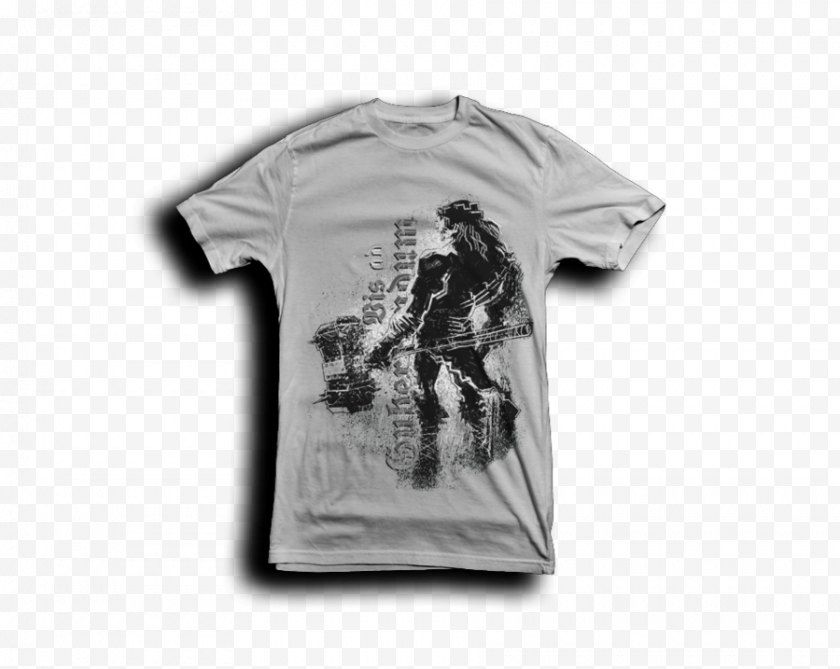 Cartoon - T-shirt Clothing Sleeve Outerwear - Silhouette - Triple H Free PNG