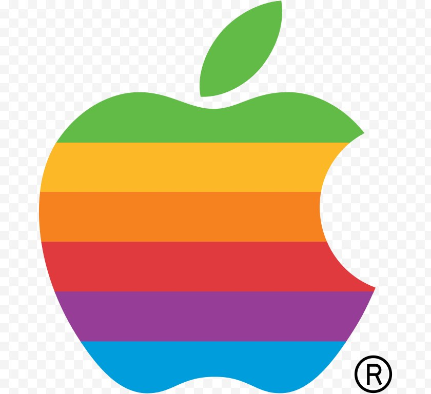 Area - Apple Logo Rainbow Color - Steve Jobs - Computer Pictures Free PNG