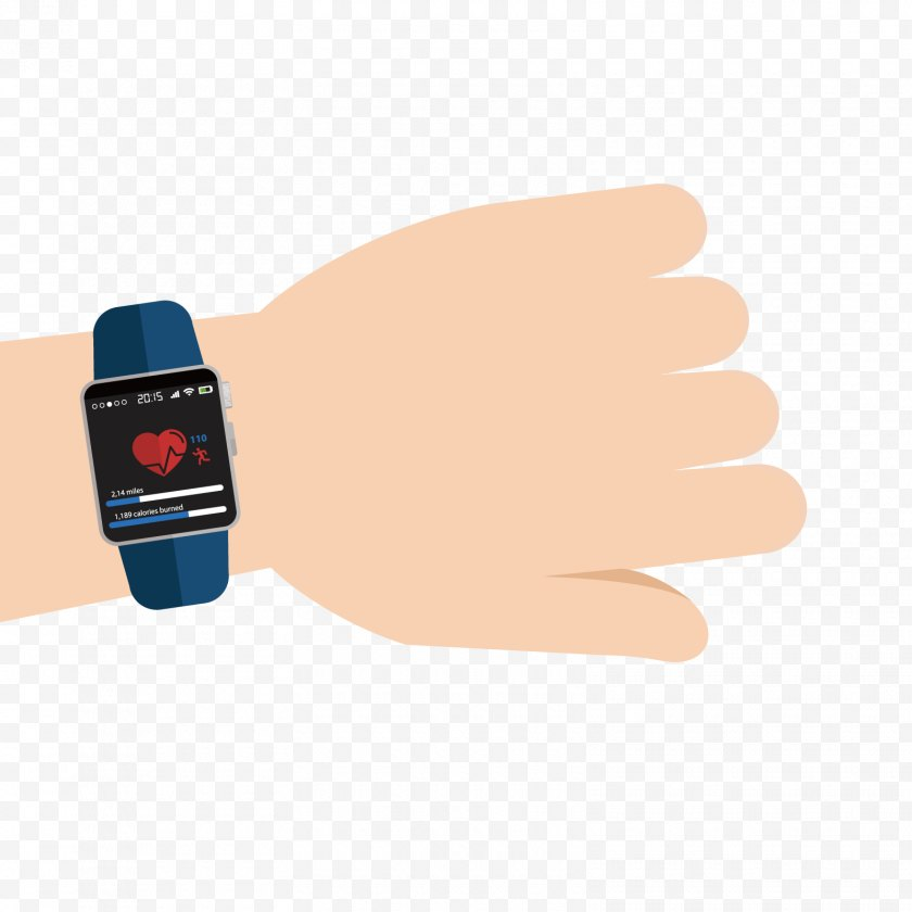 Thumb - Euclidean Vector - Electrocardiography - Heartbeat Watch Free PNG