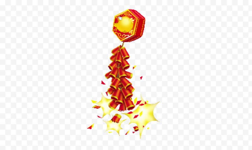 New Year S Eve - Chinese Year's Firecracker Clip Art Free PNG