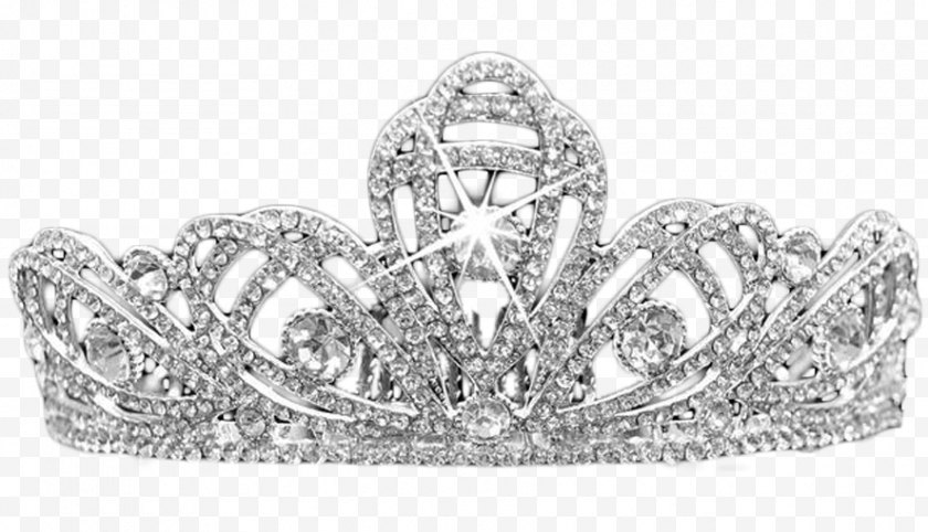 Black And White - Headpiece Diamond - Bling - Crown Free PNG