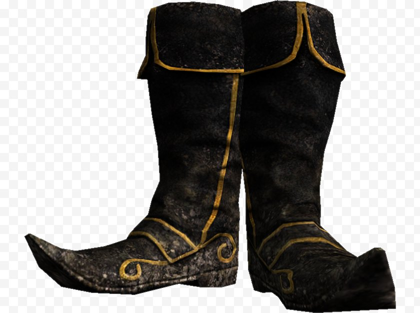 Cowboy Boot - The Elder Scrolls V: Skyrim Riding Shoe - Sneakers - Boots Free PNG