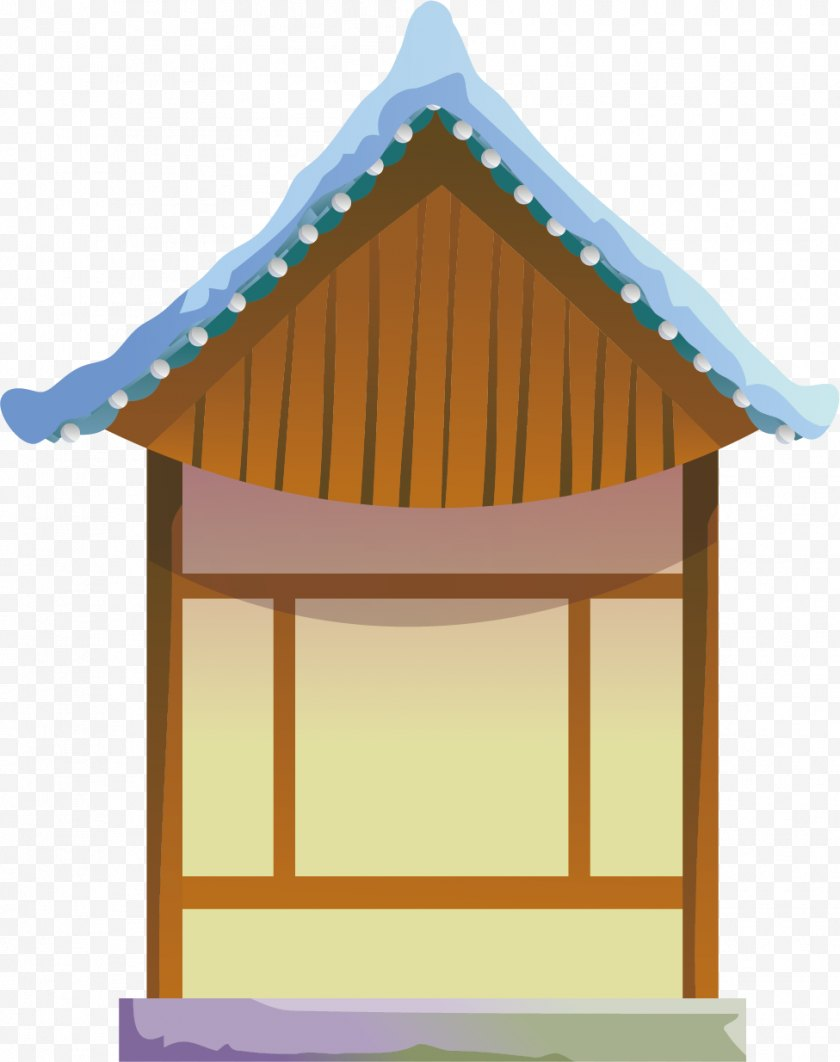Hut - Winter Snow - Facade - Housing Material Simple Free PNG