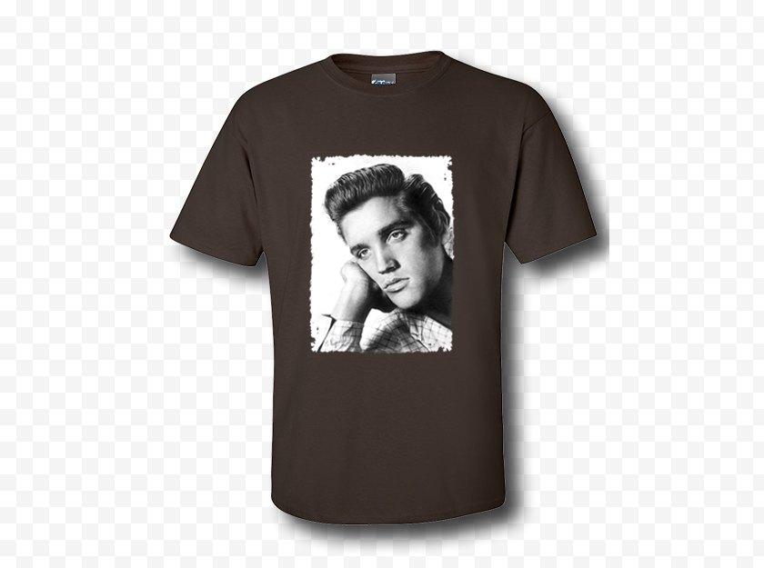 Elvis Presley - T-shirt Sleeve Clothing - Printed Tshirt Free PNG