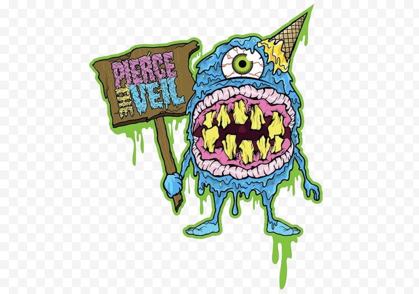 Fictional Character - Clip Art Illustration Animal Pierce The Veil Purple - Cartoon - Brooklyn Graffiti Free PNG