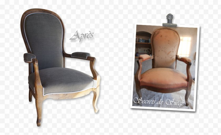 Fauteuil - Chair Voltaire Couch Furniture Free PNG