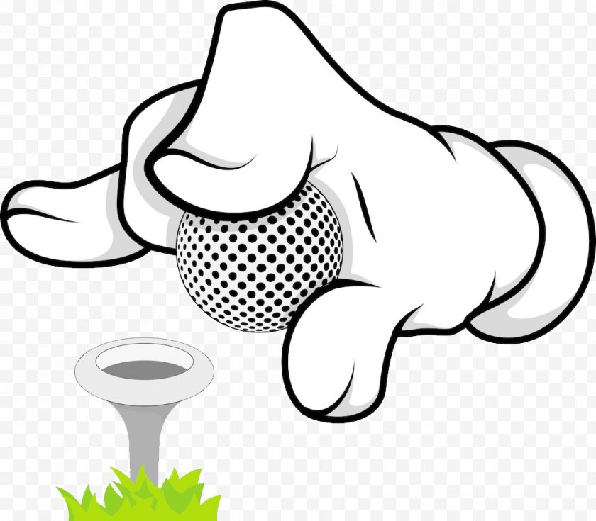 Golf - Ball Cartoon Illustration - Photography - Animation Hand Free PNG
