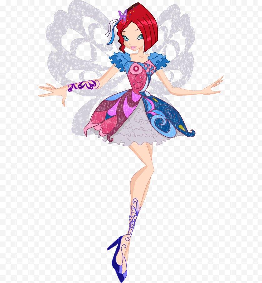 Cartoon - Roxy Musa Tecna Flora Butterflix - Heart - Fairy Free PNG